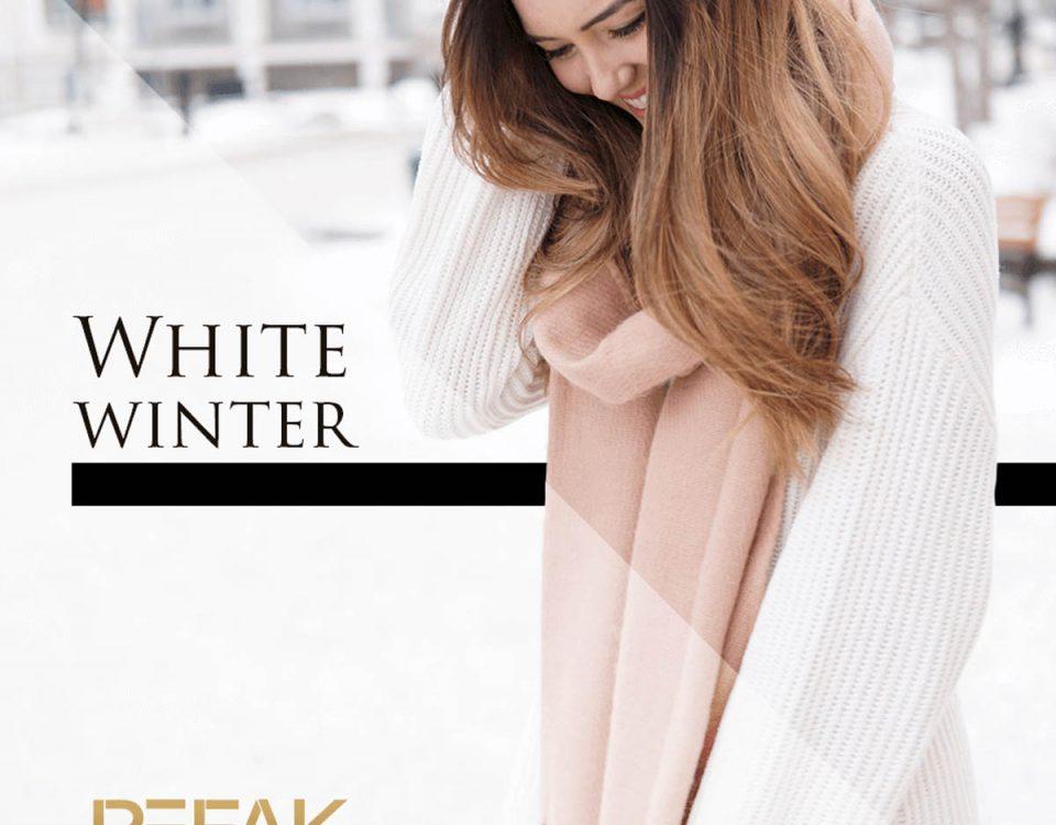 White winter Pefak