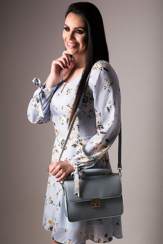 Vestido Estampa Floral + Bolsa