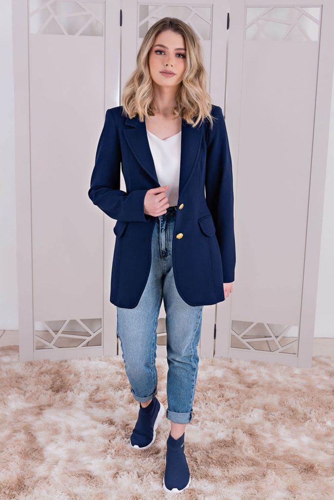 Blazer e Jeans